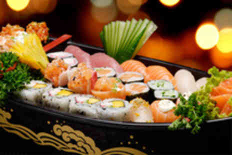 Takara Sushi Bar - Sushi meal for Two including a tasting platter and Two glasses of bubbly - Save 71%