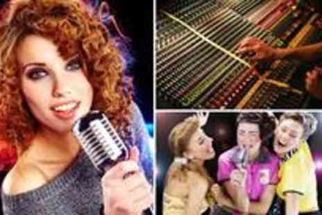 Star for a Day - Karaoke recording studio party for up to 10 people including a master CD - Save 84%