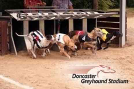 Doncaster Greyhound Stadium - Night at The Dogs For Four With Food, Drinks and Programmes - Save 68%