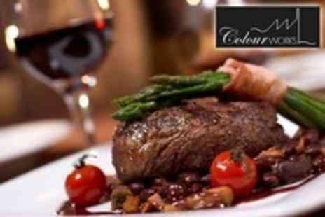 Colourworks Restaurant - Three Courses of High End Fare For Two - Save 61%
