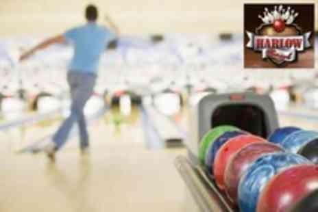 Harlow Bowl - Ten Pin Bowling Two Games For Up to Six People Plus Soft Drink Each - Save 76%