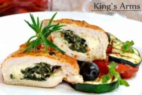 Kings Arms - Two Courses of Pub Fare For Two - Save 58%