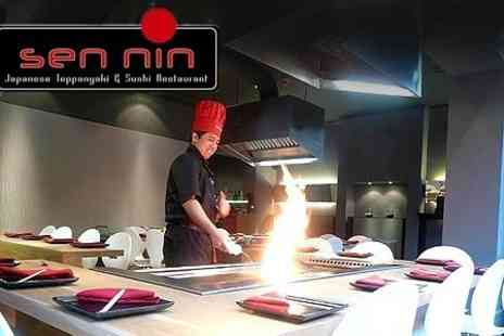 Sen Nin - Sumo Teppanyaki Meal For Two With Champagne Cocktail Each - Save 60%