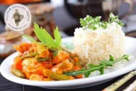 Mister Singhs - Meal For Two With Wine or Beer - Save 52%