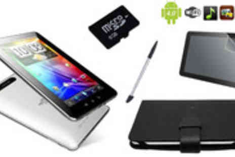 Bluebud - Amazing 7 inch Android 4 tablet bundle including a fantastic PU leather case - Save 79%
