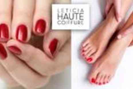 Leticia Haute Coiffure - Manicure and pedicure - Save 65%