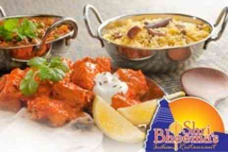 Shri Bheemas - Two Indian Cuisine Courses With Glass of Wine Each For Two - Save 54%