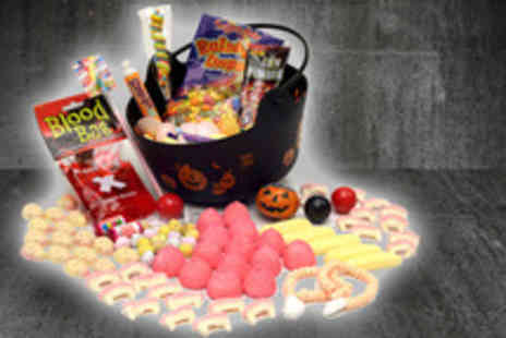 LuLus Sweets - A Halloween Sweetie Cauldron stuffed with seasonal treats - Save 58%