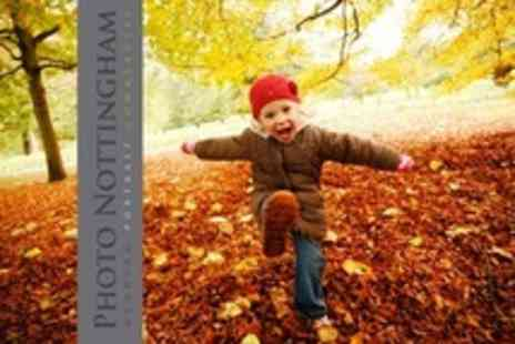 Photo Nottingham - Autumn Family Photoshoot In The Park Including Private Viewing - Save 90%
