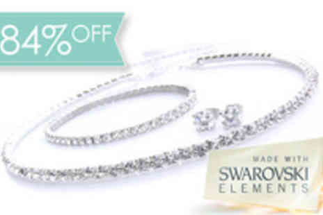 Antwerp Jewels - Stunning Tri Set made with Swarovski - Save 84%