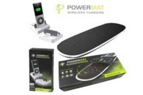 WooHooDeal - New Powermat Portable Home or Office Wireless Charger plus Receiver - Save 68%
