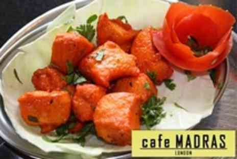Cafe Madras - Three Course South Indian Meal For Two With Sides - Save 95%