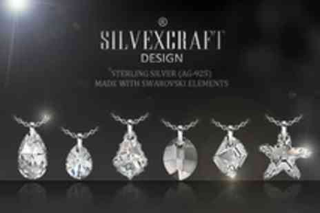 SILVEXCRAFT - One Necklace With Swarovski element - Save 96%