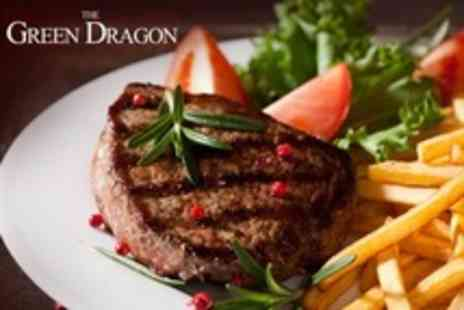 The Green Dragon Hotel - Sirloin Steak Dinner For Two - Save 58%