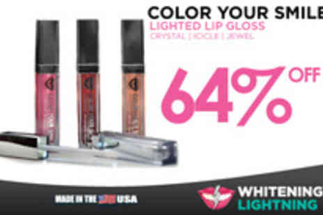 Whitening Lightning - Three Colour Your Smile Lighted Lip Gloss - Save 64%