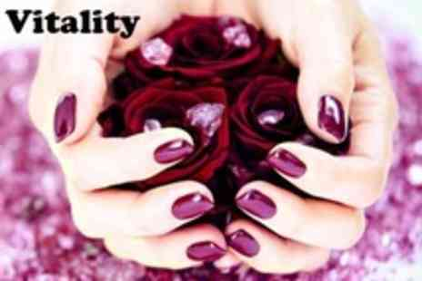 Vitality - Shellac Gel Polish For Fingers or Toes or Dermalogica Pedicure - Save 55%