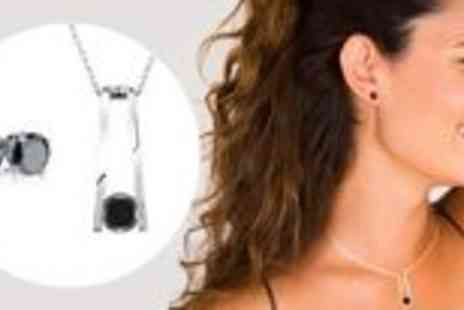 Jewellery Select - Pendant and earrings set with black Swarovski elements - Save 81%