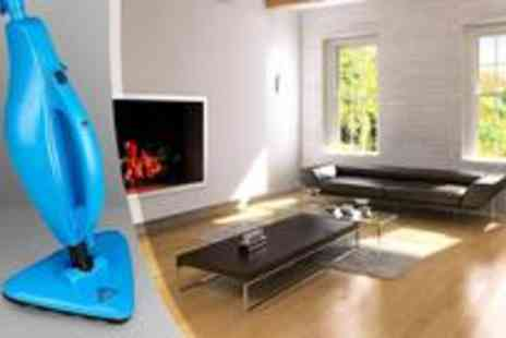 UTC LONDON - Universal 6-in-1 multi-steam cleaner designed to thoroughly clean floor surfaces such as marble, ceramic, stone, linoleum, sealed hardwood floors - Save 50%