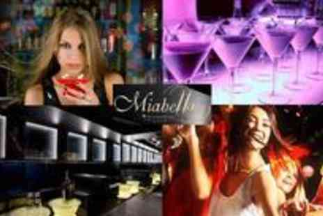 Miabella - Six cocktails and club entry for two people - Save 78%