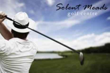 Solent Meads Golf Centre - Golf Day For Two 30 Range Balls and Bacon Roll Plus Hot Drink Each - Save 50%