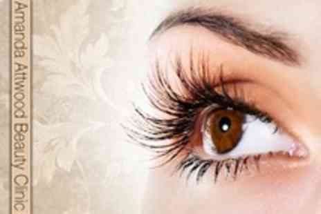 Amanda Attwood Beauty Clinic - Full Set of Lash Extensions With Brow Shape Plus Indian Head Massage - Save 61%