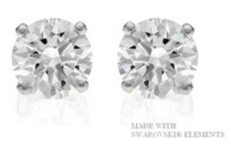 Leigh-Anne McCague Couture - Stunning Amelia Swarovski Crystal Elements Solitaire Earrings - Save 65%