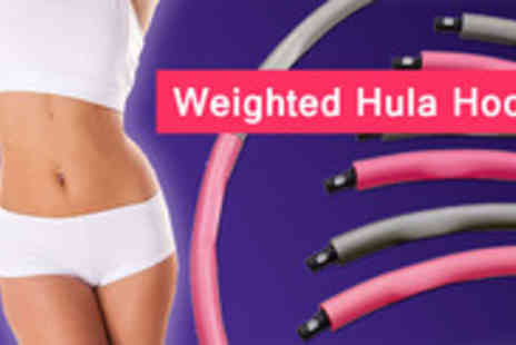adask trading - Get fit and stay fit with this perfectly weighted,foam padded Hula Hoop - Save 49%