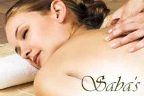 Sabas - One Hour Massage - Save 65%