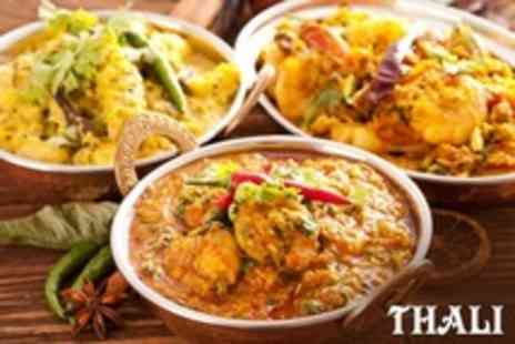 Thali - Three Course Indian Platter With Sides For Two - Save 50%
