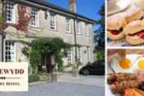 Ty Newydd Country Hotel - One night B& B stay for two with Welsh cream tea - Save 59%