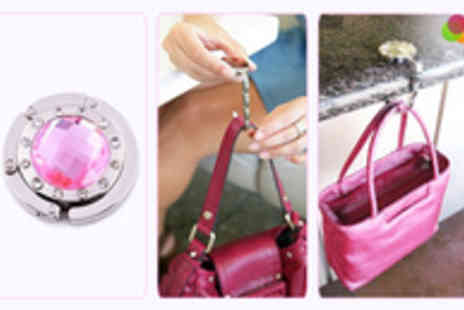 Gift Me Something Special - One Round Gem Studded Handbag Holder with Mirror - Save 63%