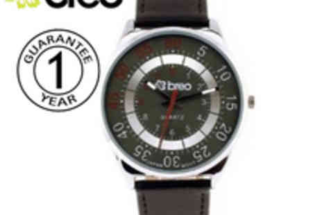 Breo - Mens Panorama Watch with Black color - Save 80%