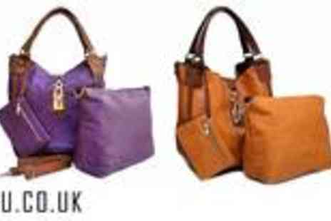 A SHU.co.uk - Stunning four piece Tote handbag set available in five colours - Save 60%