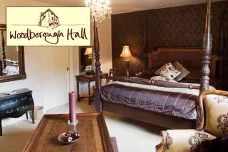 Woodborough Hall - Romantic One Night Stay for Two with Ensuite Bedroom, Champagne & Canapes - Save 61%