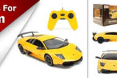 Qasas.co.uk - Yellow Lamborghini: remote controlled car with authentic detailing - Save 62%