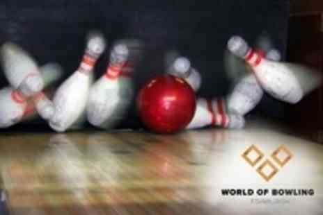 World Of Bowling - One Hour of Bowling For Up To Six Plus Pizza To Share - Save 67%