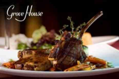Grove House - Two Course Meal For Two With Glass of Prosecco Each - Save 64%
