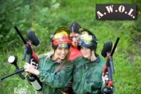 AWOL Adventure - Paintballing For One With 100 Paintballs Each - Save 70%