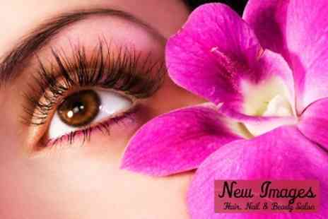 New Images Hair, Nail and Beauty Salon - Semi-Permanent Eyelashes Plus Eyebrow Shape and Tint - Save 61%