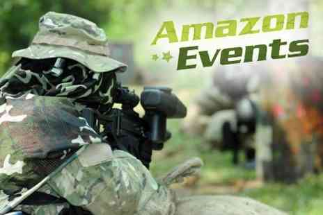 Amazon Outdoor Events - Half Day Paintballing With 100 Balls - Save 69%