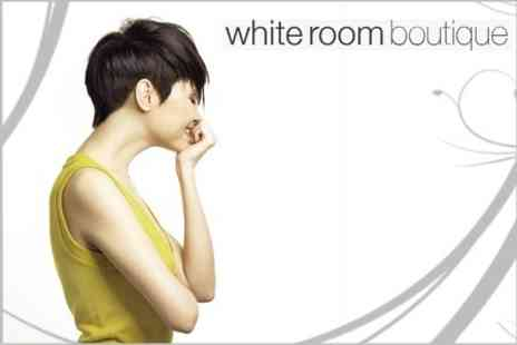 White Room Boutique - Cut, Blow Dry and Finish Plus L Oreal Serie Expert Fibre Cutic Treatment - Save 62%