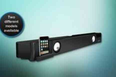 Electro Tycoon - Home Cinema Sound Bar with 2.1 surround sound and an iPod/iPhone dock - Save 43%
