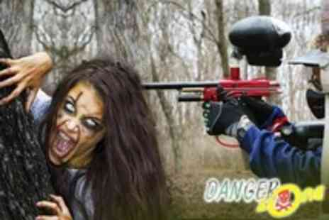 The Dangerzone - Zombie Themed Paintballing Experience For Four - Save 80%