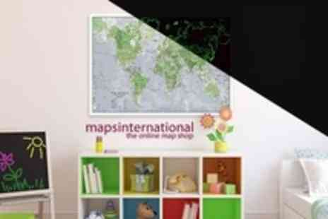Maps International - A1 Glow in The Dark World Maps - Save 60%