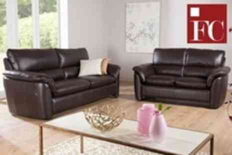 Furniture Choice - Leather Suites With Two and Three Seater Sofas - Save 50%