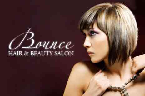Bounce Salon - Half Head Highlights, Hair Mask Conditioning Treatment and Cut - Save 61%
