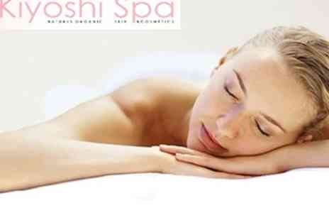Kiyoshi Spa - Sea Salt Back Scrub with Hot Towels and Hot Stone Back, Neck & Shoulder Ritual - Save 62%