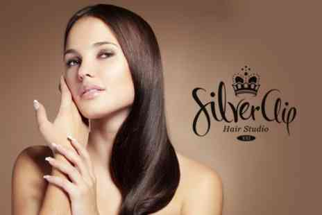 SilverClip Hair Studio - Cut, Wash and Blow Dry With MORROCANOIL Treatment - Save 58%