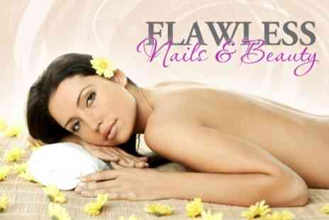 Flawless Nail and Beauty - Back, Neck and Shoulder Massage with Express Manicure and Pedicure - Save 62%