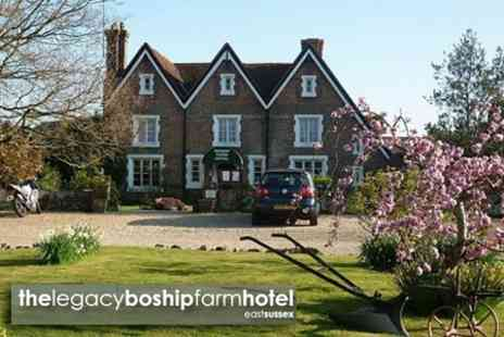 The Legacy Boship Farm Hotel - One Night Stay For TwoWith Dinner and Afternoon Tea - Save 52%